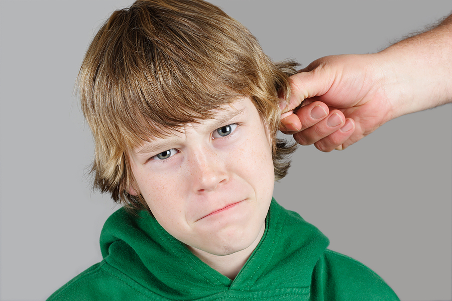Image result for pulling by ear